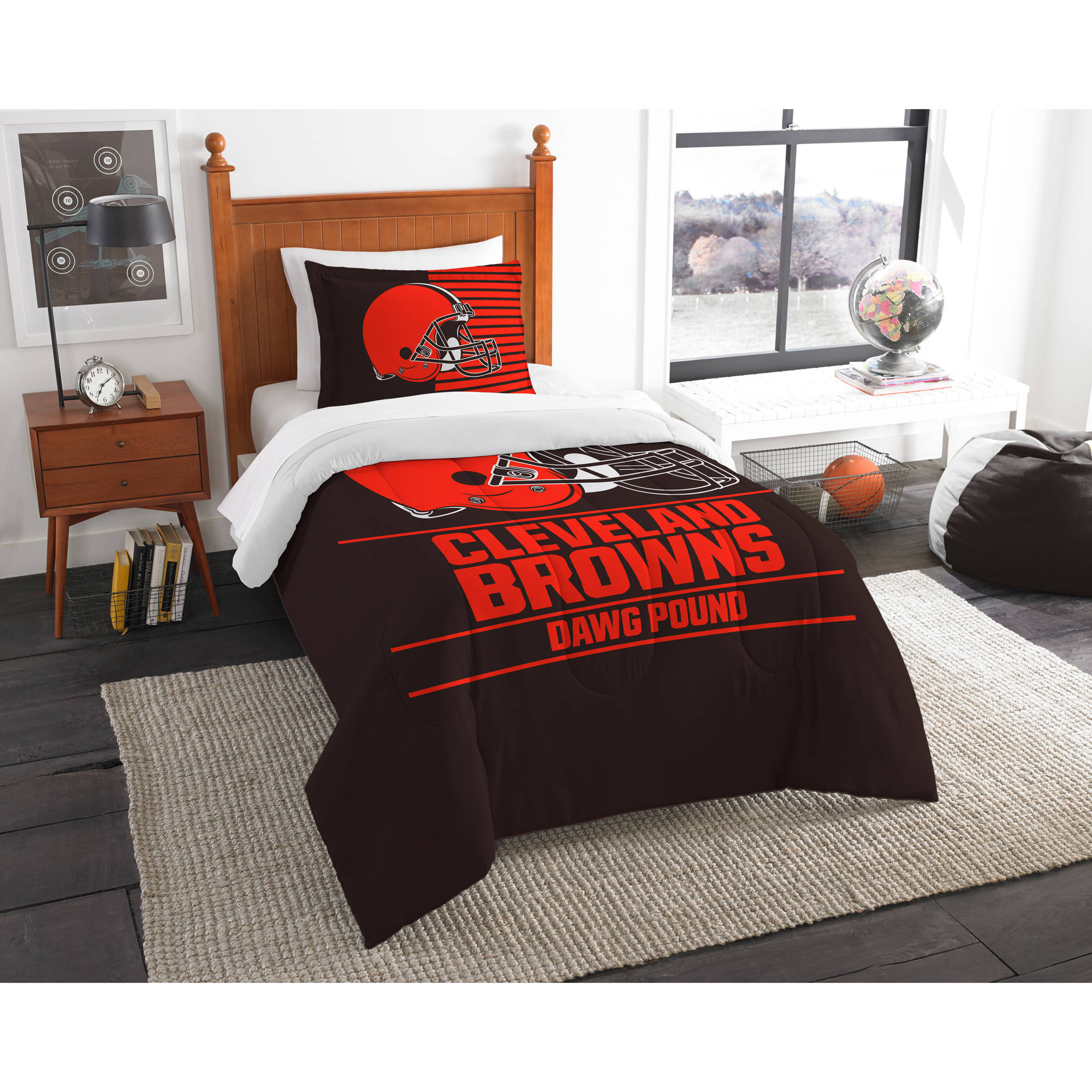 "NFL Cleveland Browns ""Draft"" Bedding Comforter Set"