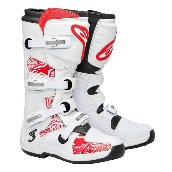 Alpinestars Tech 3 Carbon MX Offroad Boots White/Red