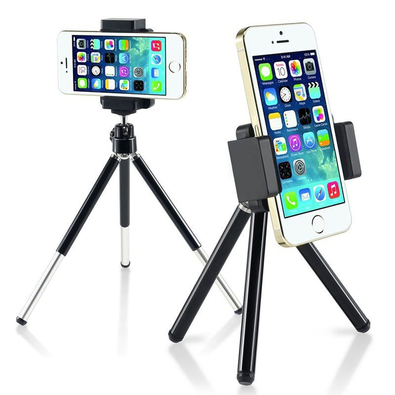 Insten 360 degree Ball Head Mini Phone Tripod Stand Holder for Smartphone Selfie Universal Samsung Galaxy S9 S8 S7 S6 S5 S4 Edge Note 8 5 4 J7 J3 Apple iPhone XS X 10 7 8 6 6S Plus SE 5S Pocket-Size
