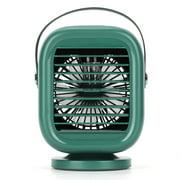 Portable Rotatable Fan Cold Water Fan Silent Three Gear Wind Speed 2000mah Usb Charging Small Fan For Office
