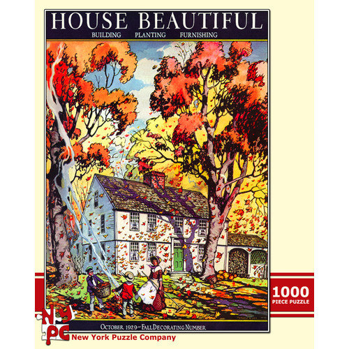 New York Puzzle Company Autumn Leaves 100-Piece Puzzle