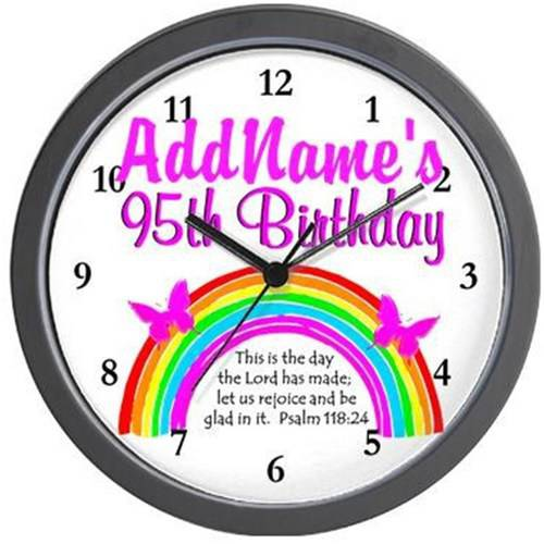 Cafepress Personalized Christian 95th Wall Clock