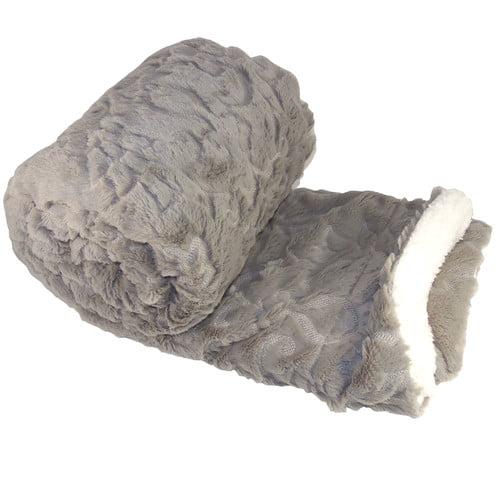 BOON Throw & Blanket Batik Faux Fur Sherpa Throw Blanket