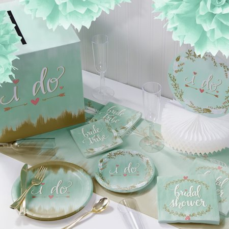Mint to Be I Do Deluxe Party Supplies Kit
