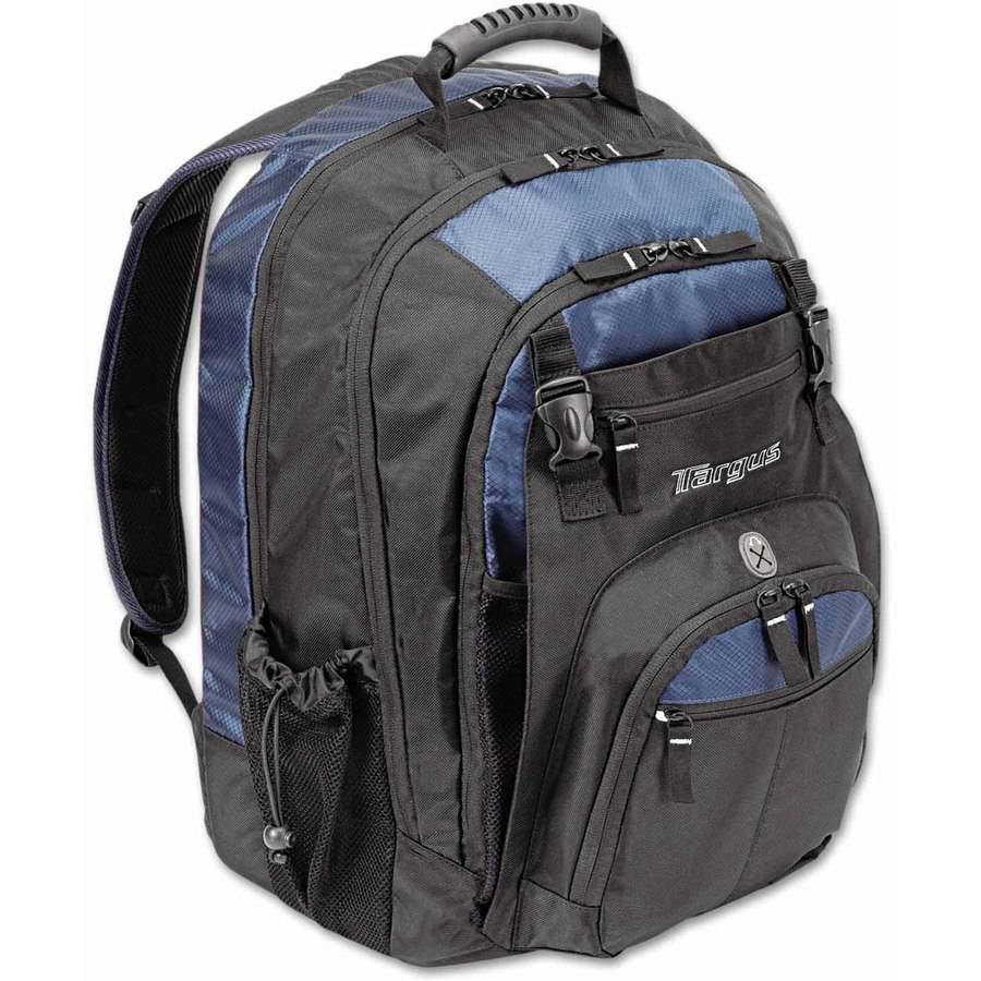 "Targus XL Laptop Backpack 17"", Black/Blue"
