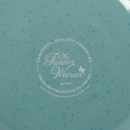 The Pioneer Woman Frontier Speckle Aluminum 12-Inch Everyday Pan, Turquoise