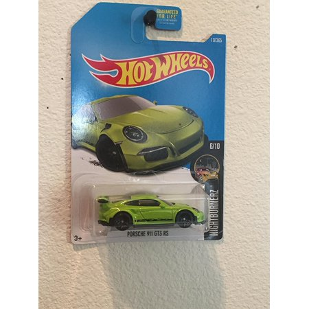 Hot Wheels - Nightburnerz 6/10 - Porsche 911 GT3 RS (Green) 117/365, By (1989 Porsche 964 Carrera 4 For Sale)