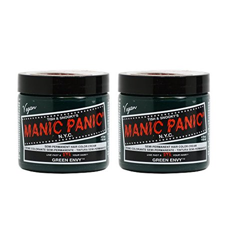 Manic Panic Semi-Permanent Hair Color Cream - Green Envy 4oz