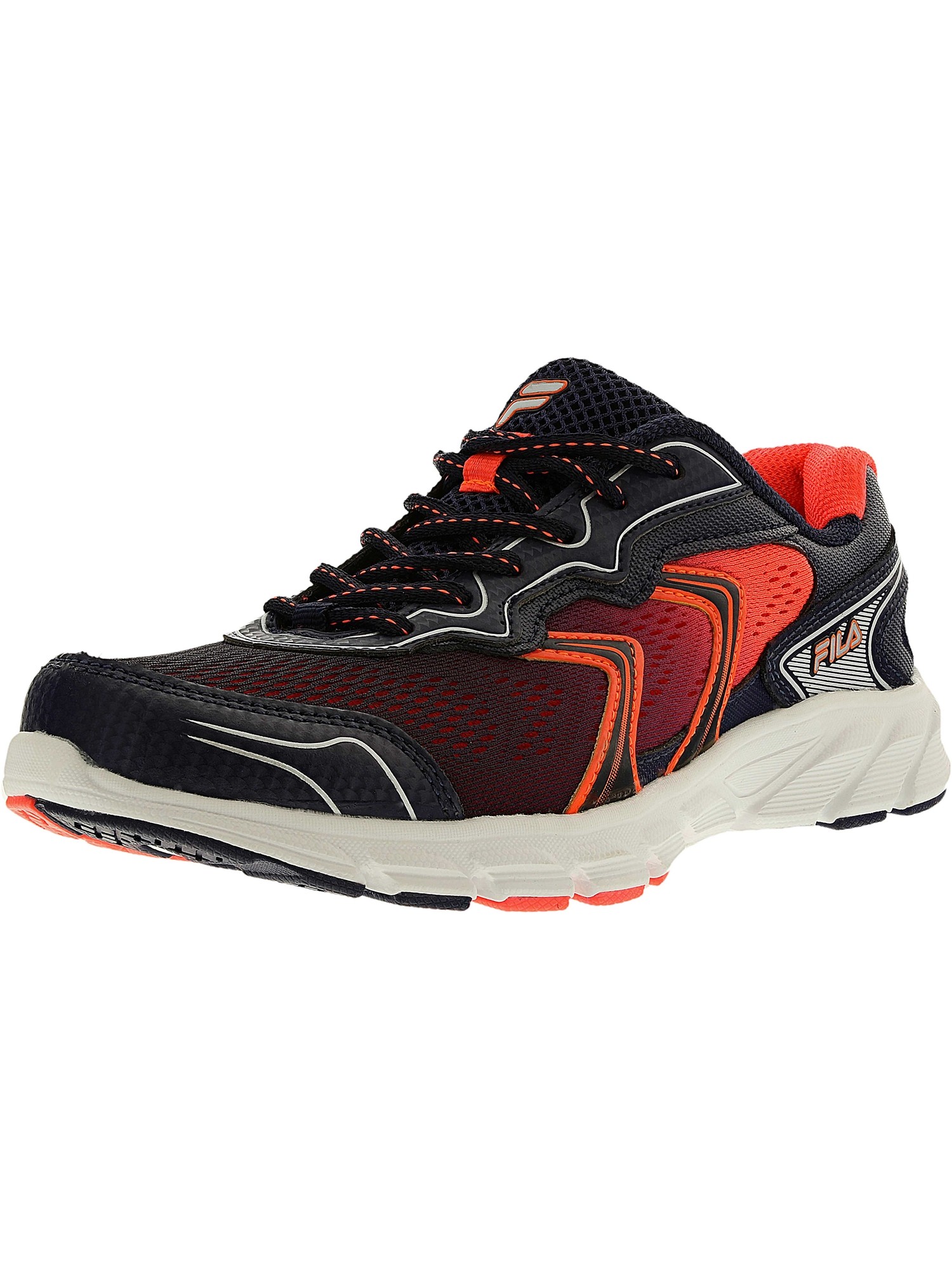 Fila Fila Women's Stellaray NavyFiery CoralWhite Ankle High Running Shoe 7.5M