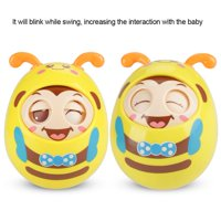 LYUMO Educational Infant Baby Teether Swing Toy Cute Infant Blinking Shaking Rattle Handbell, Baby Rattle, Baby Teether Toy