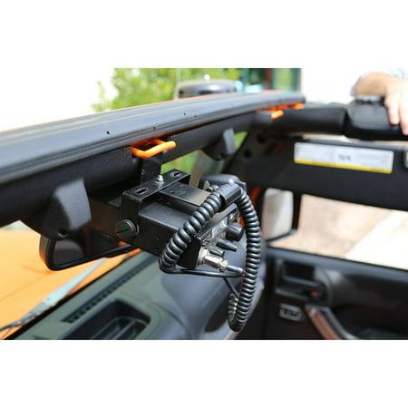 11503.95 CB Radio Mount for 2007-2018 Jeep Wrangler JK Models Rugged