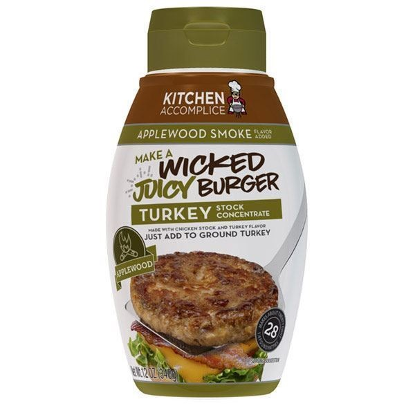 Kitchen Accomplice Wicked Juicy Applewood Smoke Turkey Burger Concentrate (6x12 OZ ) by Kitchen Accomplice