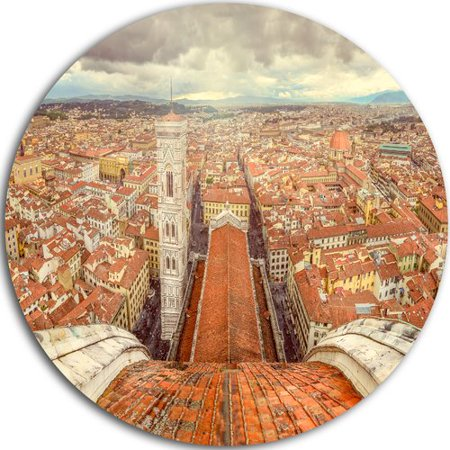 Florence Design (Design Art 'Florence View from Duomo Cathedral' Photographic Print on Metal )