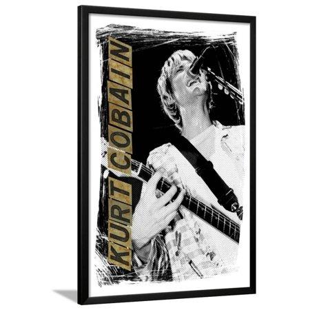 Kurt Cobain Framed Poster Wall Art - Walmart.com