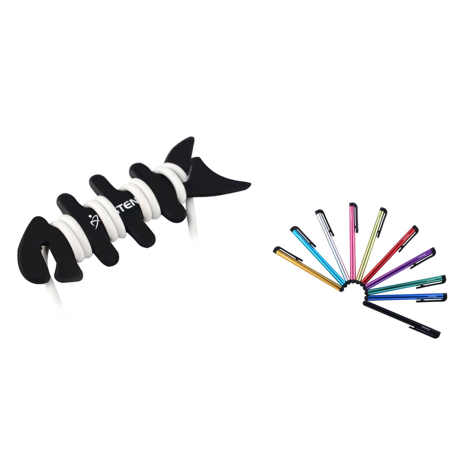 Insten 10pcs Assorted Colorful Stylus Pen + Wrap for Samsung Galaxy Tab Tablet Note 5 4 S5 S6 S7 iPhone 6 6s SE 5s iPad Air Pro Mini 4 3 2 1