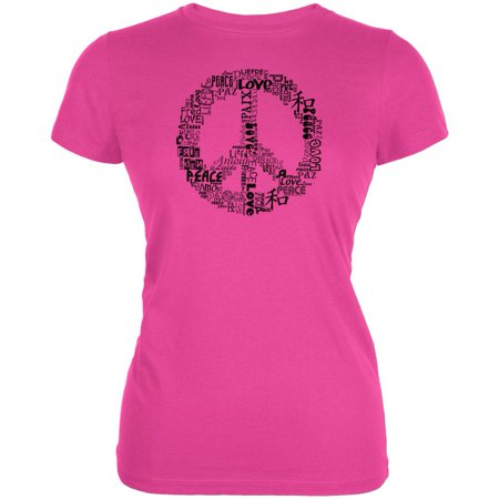 Love and Peace Sign Juniors T-Shirt ()