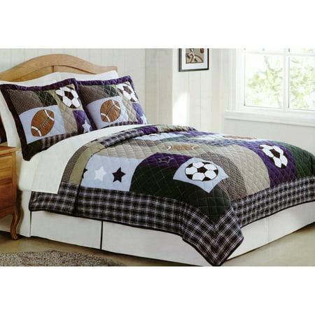 Sports Collage Bedding Quilt Set