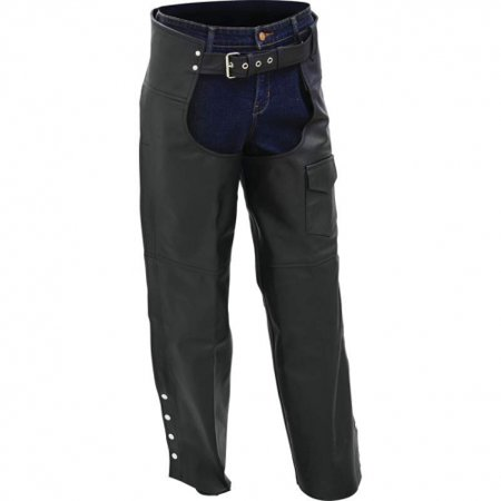 Equitation Chaps - Rocky Mountain Hides Solid Genuine Buffalo Leather Motorcycle Chaps