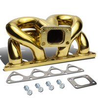For 1988 to 1991 Honda Civic / CRX D15 D16 / 1993 to 1997 Del So Anodized Stainless Steel 42mm T3 Ram Horn Exhaust Turbo Manifold