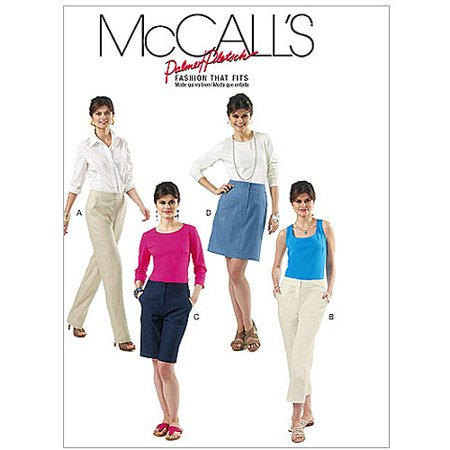 Mccalls Pattern Misses Skirt  Shorts And Pants In 2 Lengths  Ff  16  18  20  22