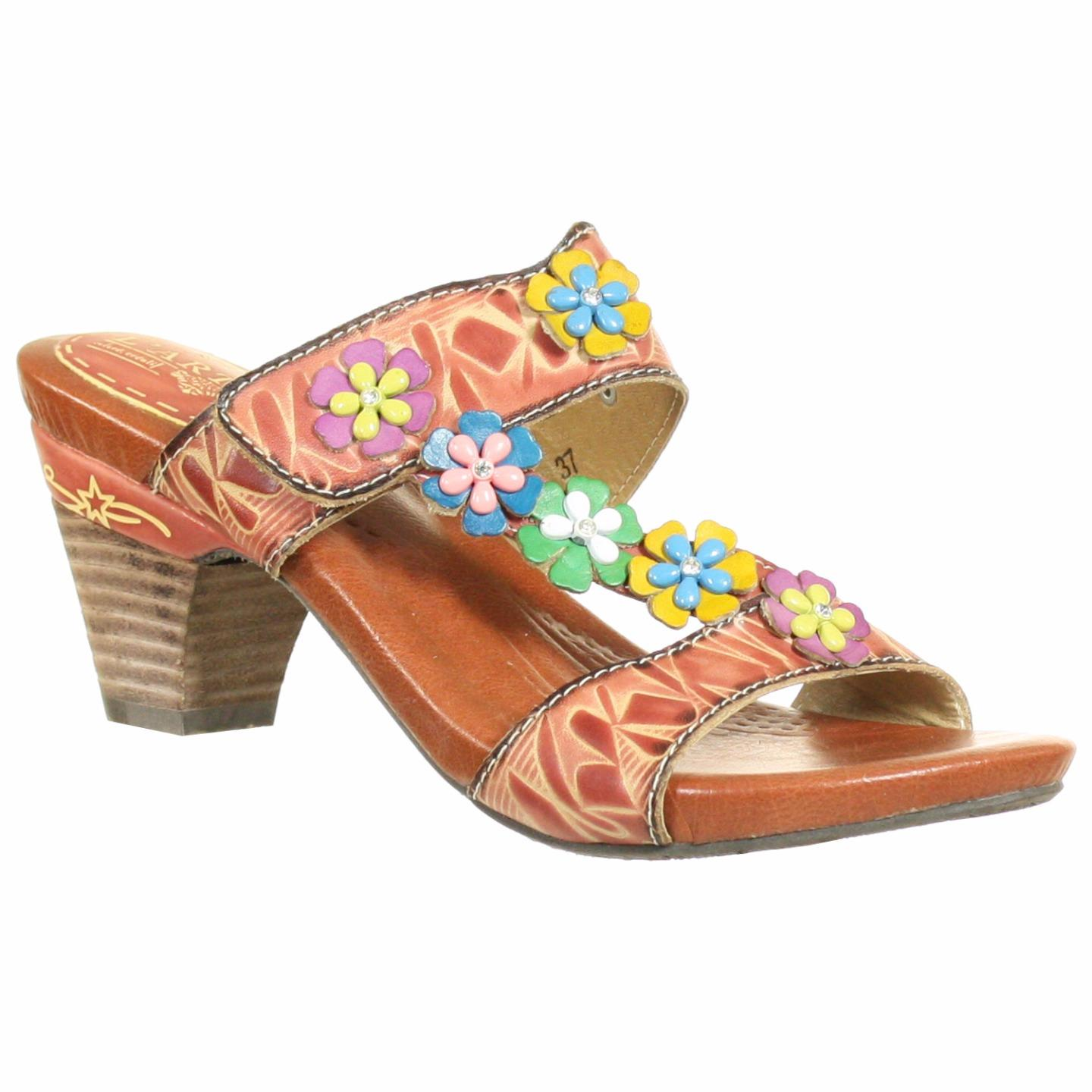 L'Artiste Collection By Spring Step Women's Allison Sandal Pink Multi EU 37 US 7 by Spring Step