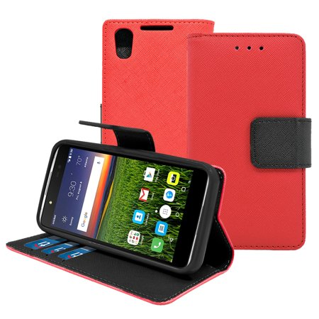 Alcatel Idol 4 / Nitro 4 Leather Wallet Pouch Case Cover -