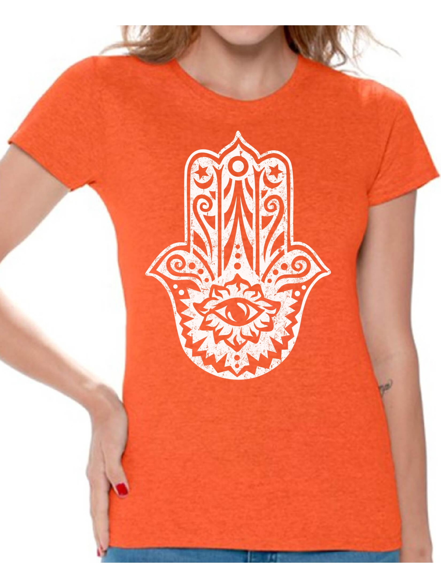 Floral Hamsa Black Boys Youth Graphic T Shirt Design By Humans