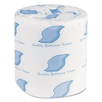 General Supply 2-Ply White Bathroom Tissues, 500 Sheet Rolls, (Pack of 96)