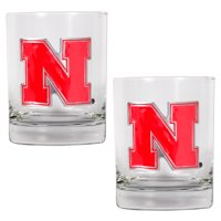 Nebraska Cornhuskers 14oz. Rocks Glass Set