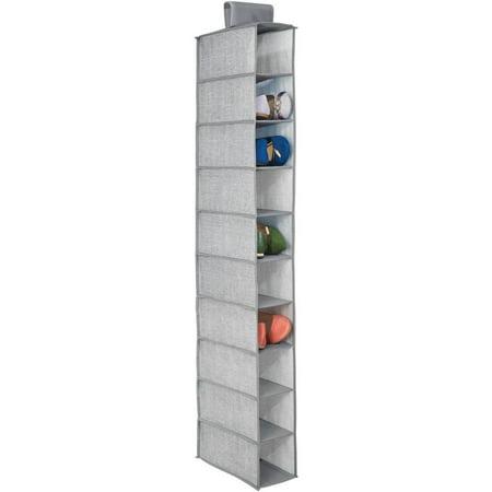 InterDesign Aldo 10-Shelf Shoe Organizer, Grey