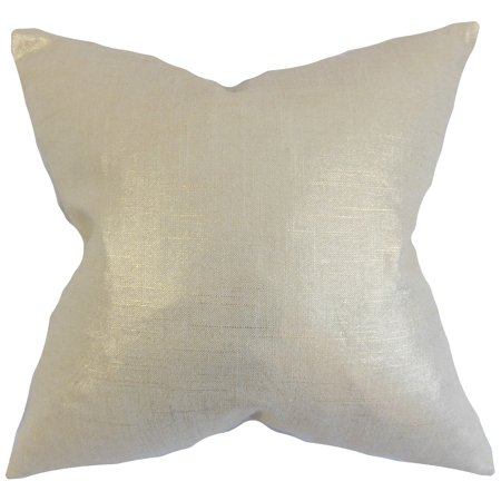 The Pillow Collection Florin Amethyst Solid Feather Filled Throw Pillow