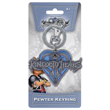 Kingdom of Hearts Logo Pewter Keychain - Heart Pewter Keychain
