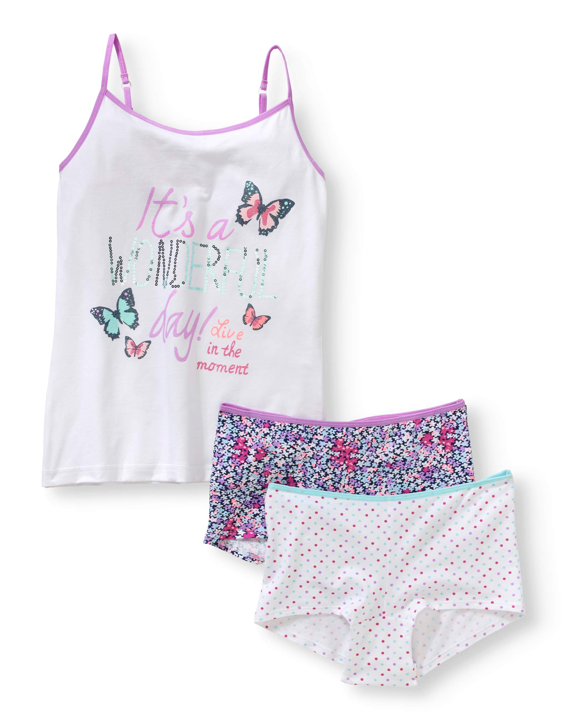 Girls Cami/ Boyshort Set