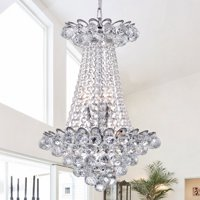 Avril Chrome-finish 55-inch Crystal Chandelier