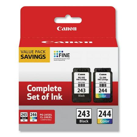 Canon PG-243BK Black & CL-244 Color Inkjet Print Cartridge (1287C006) Colour Inkjet Print
