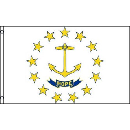 Rhode Island Flag RI State Banner Pennant 2x3 foot Indoor Outdoor 24x36 inches