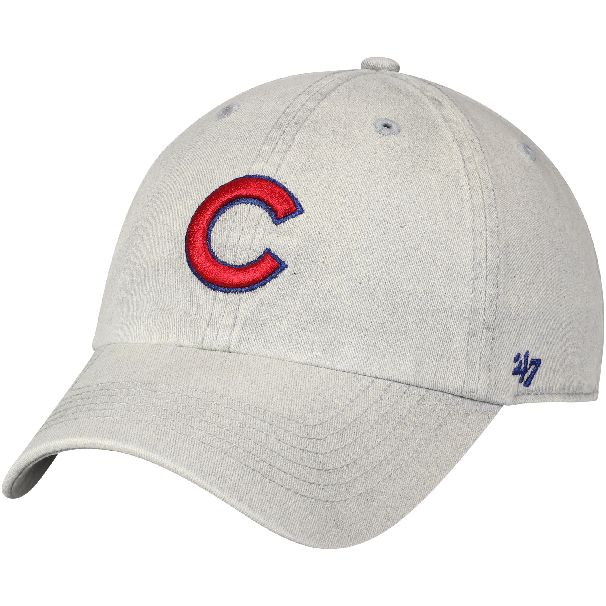 Chicago Cubs '47 Cement Clean Up Adjustable Hat - Gray - OSFA