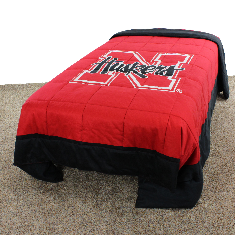 "Nebraska Cornhuskers 2 Sided Reversible Comforter, 100% Cotton Sateen, 100"" x 96"", King"