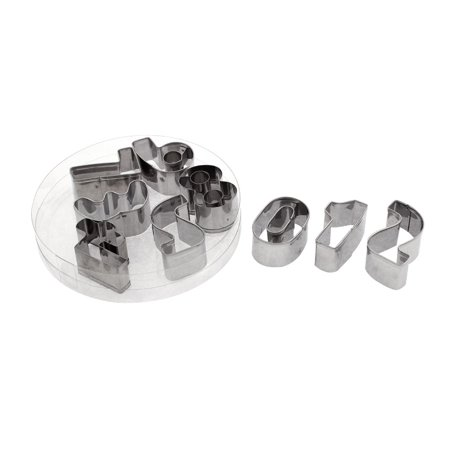 Unique Bargains Arabic Number Shape Cookie Biscuit Icing Cutters Mold 9 in 1 (Icing Ideas For Halloween Cookies)