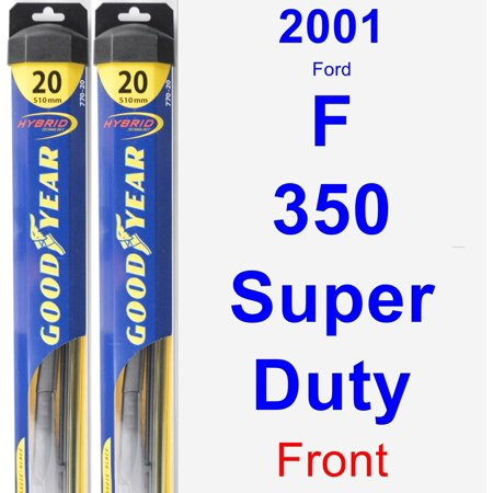 2001 Ford F-350 Super Duty Wiper Blade Set/Kit (Front) (2 Blades) - Hybrid Duty Airlaid 1/4 Fold Wipers
