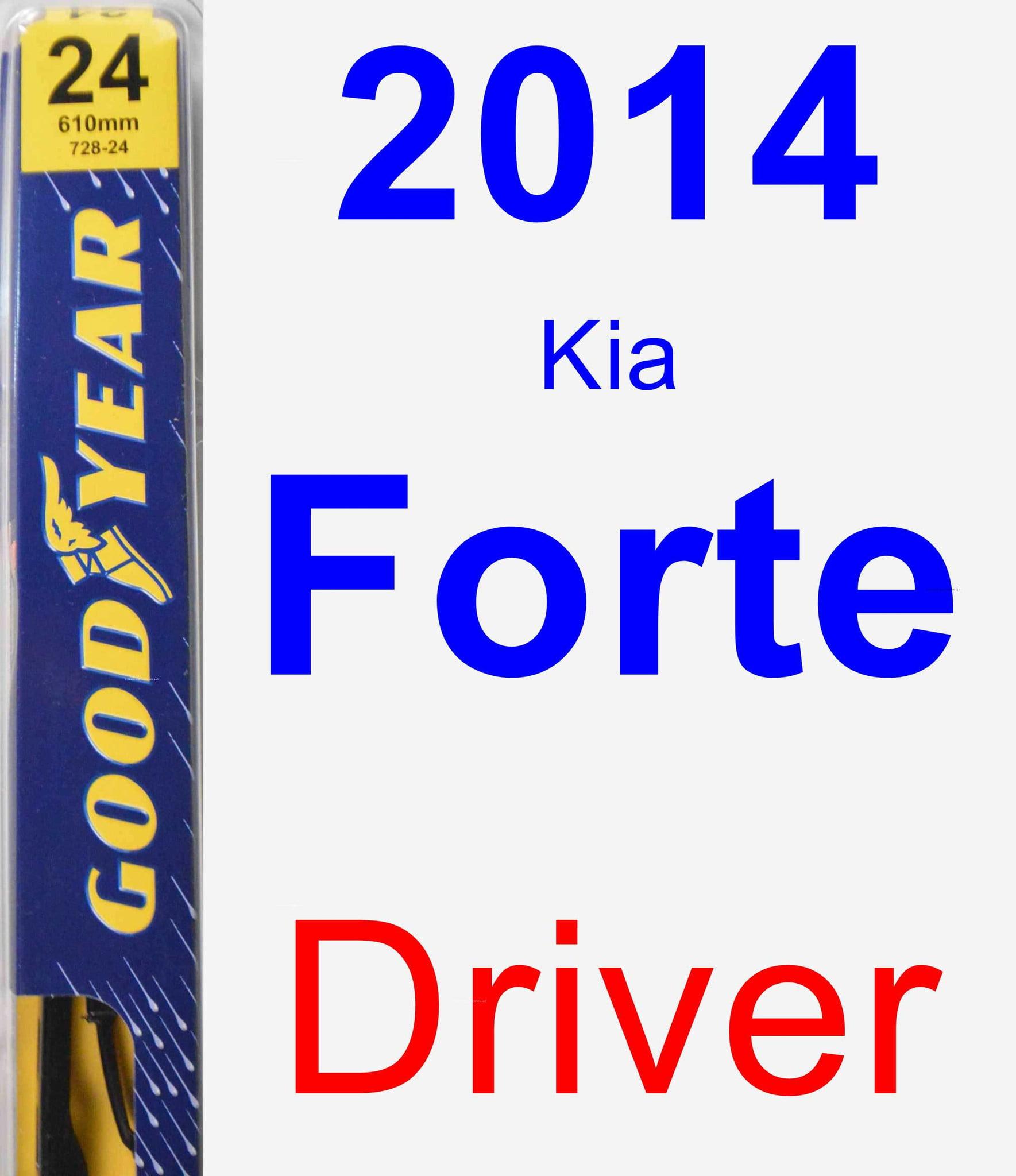 Front Windshield Premium All Season Wiper Blades Set for KIA FORTE 2014