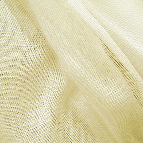 60 Yards Antique Ivory Tobacco Cloth Cotton Fabric Lightweight for Wedding Decor by JCS