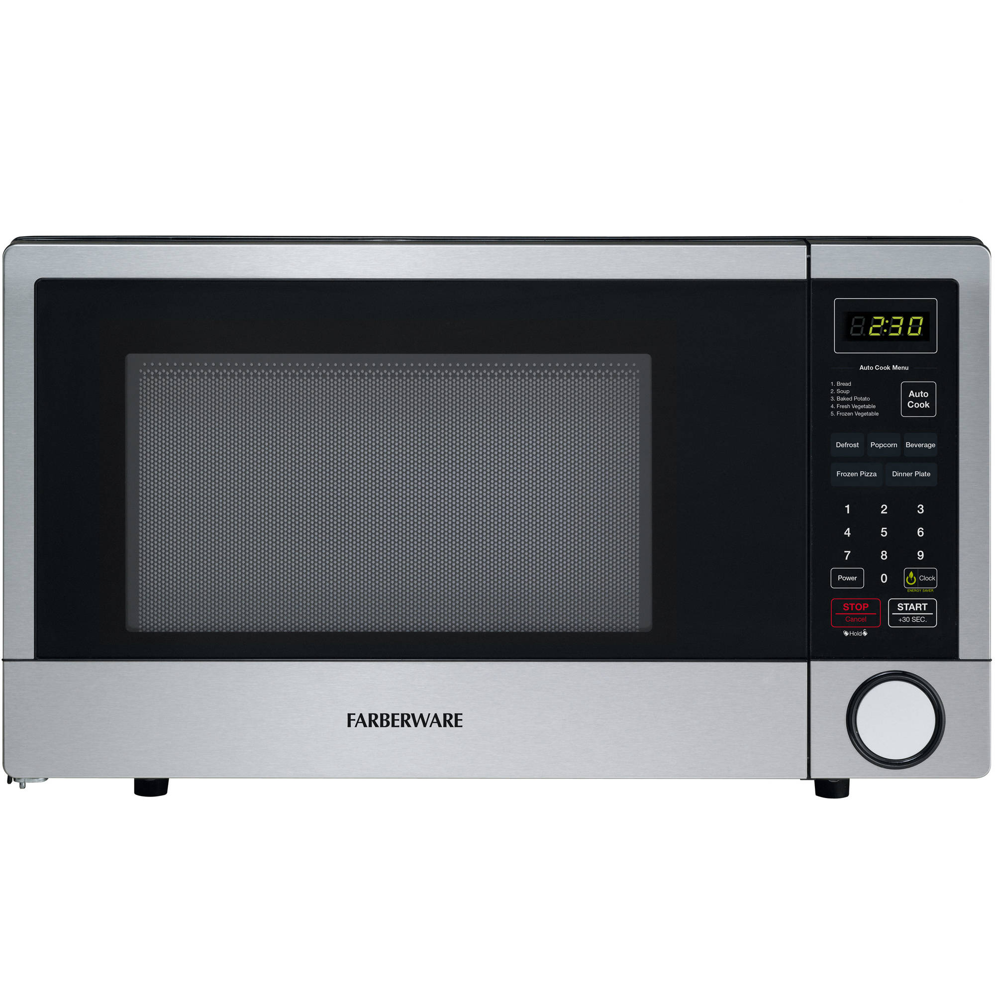 Farberware 1.1 cu ft Stainless Steel 1000-Watt Microwave with CRS Technology
