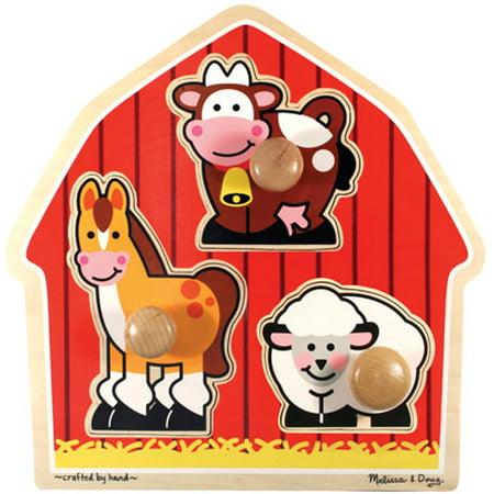 Jumbo Knob Puzzle - Barnyard Animals (Jumbo Knob Puzzle Set)