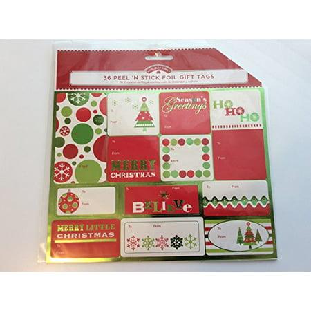 36 Peel N' Stick Foil Gift Tags