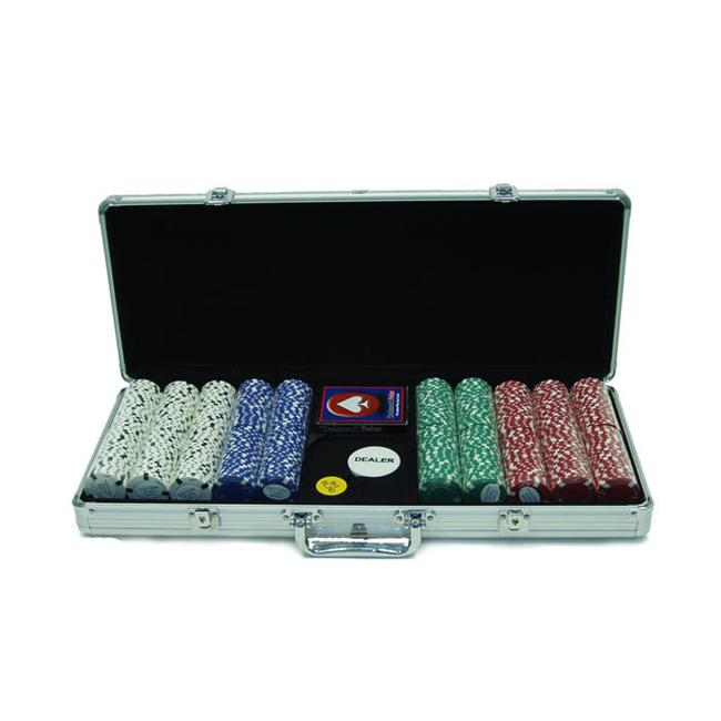 500 Chip Texas Hold Em set with Aluminum Case