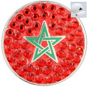 Bella Crystal Golf Ball Marker & Hat Clip - Countries Collection - Morocco