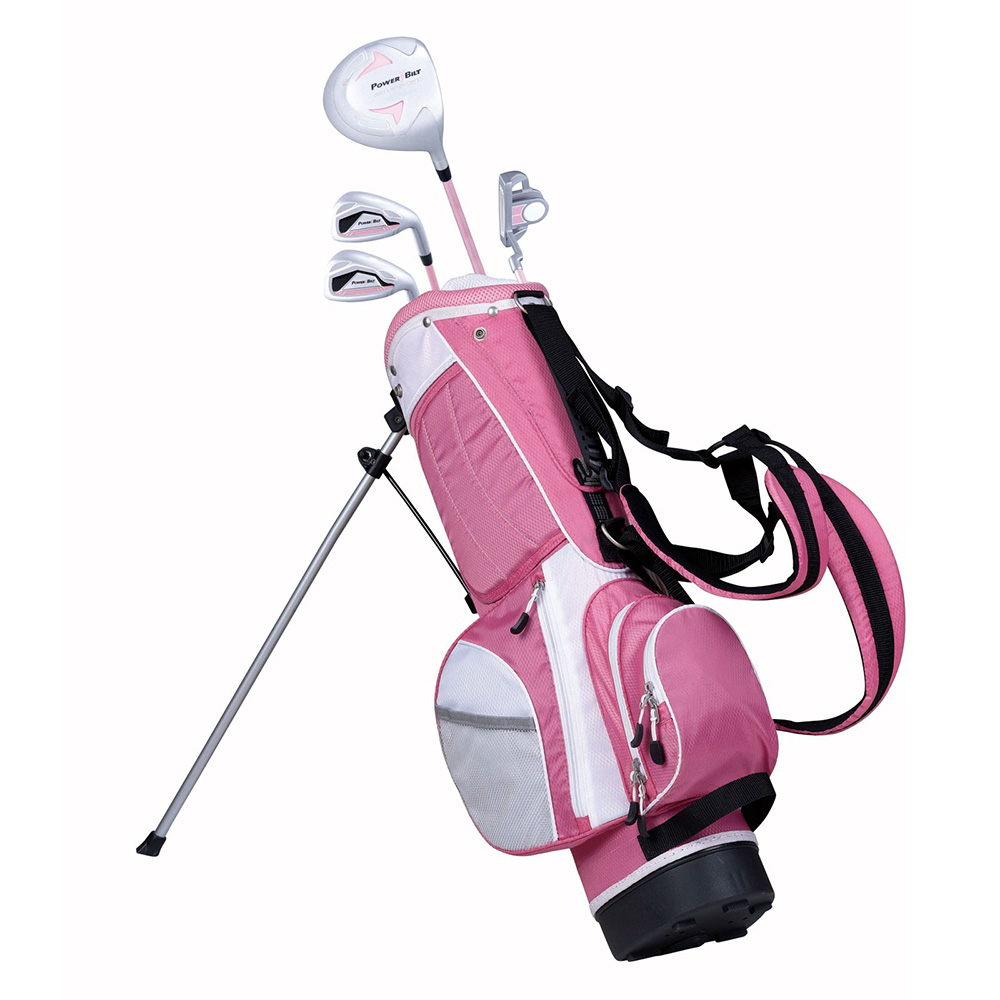 NEW PowerBilt Pink Series Junior Golf Set Driver Iron Wedge Putter Bag