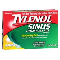 TYLENOL Sinus Congestion & Pain Caplets Daytime 24 Caplets (Pack of 4)