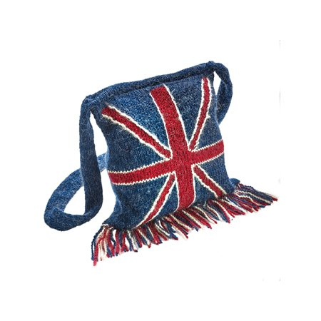 Peruvian Trading Company Women's UK Flag Union Jack Crossbody (Union Jack Bags)